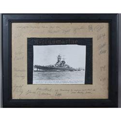 WWII Nazi Graf Spee Crew Autographed Photo
