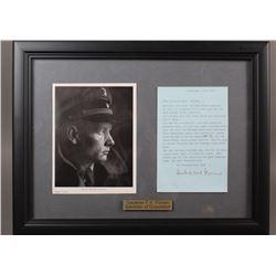 WWII Nazi F. K. Florian Signed Document
