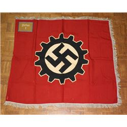 Nazi Labor Front Flag with Unit Marking
