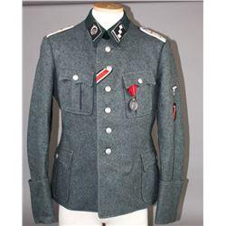 WWII Nazi Latvian Waffen SS Officer's Tunic