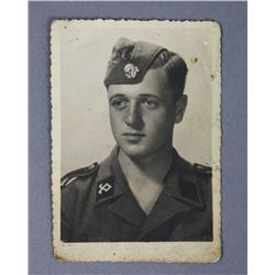 WWII Nazi SS Soldier Photograph