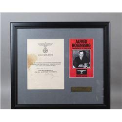 WWII Nazi Alfred Rosenberg Signed Document