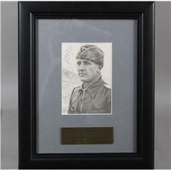 WWII Nazi SS Fritz Darges Autographed Photo