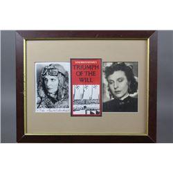 WWII Nazi Leni Riefenstahl Autographed Photo