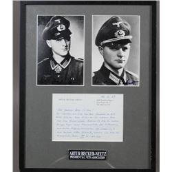 WWII Nazi Arthur Becker-Neetz Autographed Photos