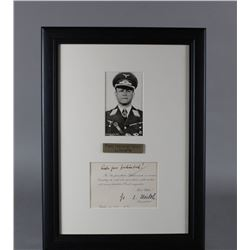 WWII Nazi Erhard Milch Letter and Portrait