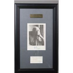 WWII Nazi Albert Speer Autographed Photo