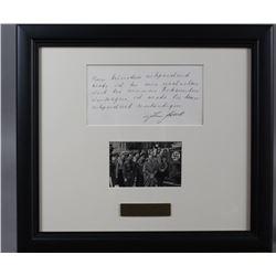 WWII Nazi Julius Schaub Signed Note
