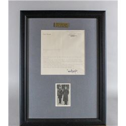 WWII Nazi Eric Kempka Letter and Picture