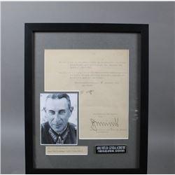 WWII Nazi Rudolph Schmundt Hitler Signed Document