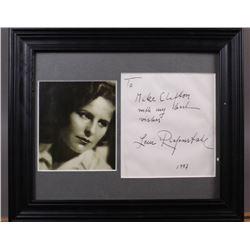 WWII Nazi Leni Riefenstahl Signed Letter