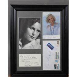 WWII Nazi Leni Riefenstahl Signed Note and Photo