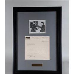 WWII Nazi Heinz Linge Photo and Letter