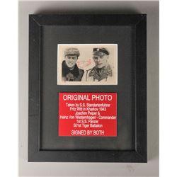 WWII Nazi Joachim Peiper & Westenhagen Photo