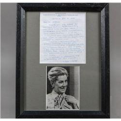 WWII Nazi Gertrude Junge Signed Photo & Letter