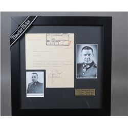 WWII Nazi Theodor Eicke Signed Document