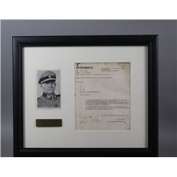 WWII Nazi SS Sepp Dietrich Signed Document