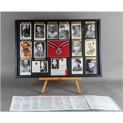 WWII Nazi Autographed Framed Photos and Cross
