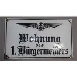 WWII Nazi Residence Sign