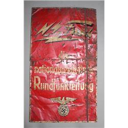 WWII Nazi NS FUNK die nationalsozialisische Sign