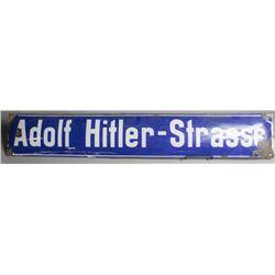 "WWII Nazi ""Adolf Hitler-Strasse"" Sign"