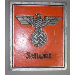 """WWII Nazi """"Zollamt"""" Sign"""
