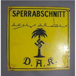WWII Nazi Afrika Korps Sign