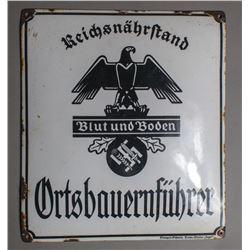 """WWII Nazi """"Blut und Boden"""" Sign"""