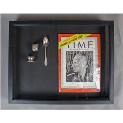 WWII Nazi Reinhard Heydrich Silverware & Magazine