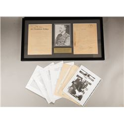 WWII Nazi Himmler and Heydrich Signed Documents