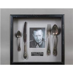 WWII Nazi General Hellmuth Weilding Silverware