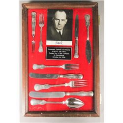 WWII Nazi Hans Frank Autographed Photo Silverware