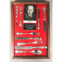 WWII Nazi Hans Frank Autographed Photo Silverware