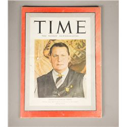 WWII Nazi Leader Hermann Goering Time Magazine