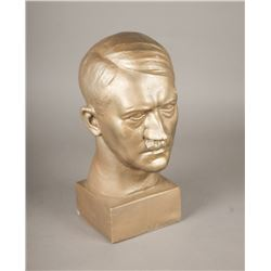 WWII Nazi Adolf Hitler Signed ¾ Scale Bust