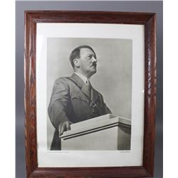 WWII Nazi Framed Photo of Adolf Hitler