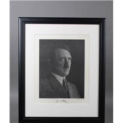 WWII Nazi Heinrich Hoffmann Photo Portrait Hitler