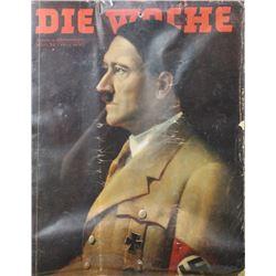 WWII Nazi Adolf Hitler Die Woche Magazine Cover