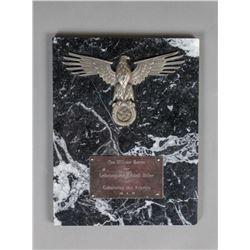 WWII Nazi SS Leibstandarte Hitlers Birthday Plaque