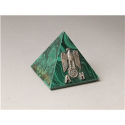 WWII Nazi Adolf Hitler Small Pyramid Paper Weight