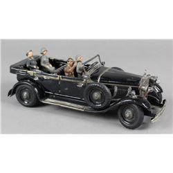 Tippco Hitler Staff Car Windup Toy w/ Lights