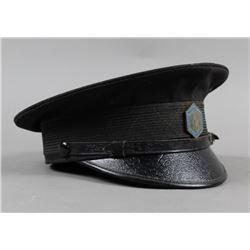 WWII Ghetto Jewish Police Badge & Hat
