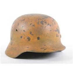 WWII Nazi Luftwaffe Camo Helmet