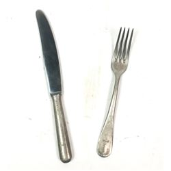 WWII Nazi German Luftwaffe Fork & Knife