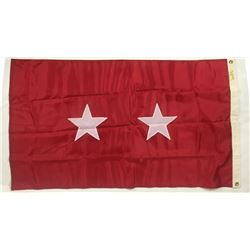 US Army 2 Star General Office Flag