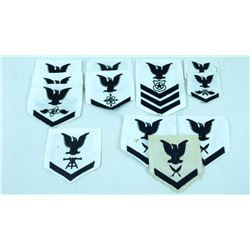 12 USN Shoulder Sleeve Rank/Rating Patches