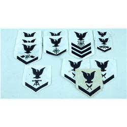 12 USN Shoulder Sleeve Rank/Rating Patches