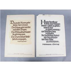 WWII Hermann Goering Propaganda Posters