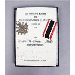 WWII German War Service Cross & Documentation