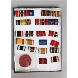 WWII German Campaign Bars & Wax Seal